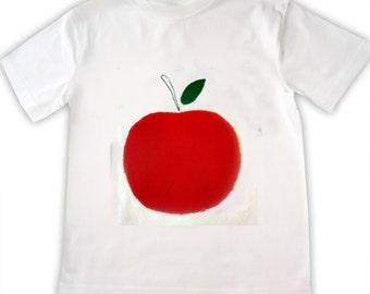 Boy's Apple Tee Shirt / Childrens Clothes / T-Shirt / Baby Shirt