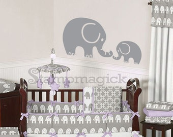 Baby Elephant Wall Decal - baby elephant decal for nursery wall decor graphics - K124