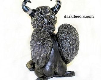 Sculpture - Studious Demon - Home Decor - Gifts under 50 - Dark Decor - OOAK