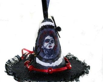 Ornament - Witch Hat - Mrs. Lovett - Christmas Ornament - Sweeney Todd - Tim Burton Inspired - Gifts under 15
