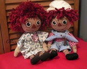Primitive Raggedy Ann and Andy