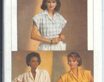 Simplicity Misses  SHIRT in Two LengthsEasy To Sew Vintage   Sewing Pattern 6804 Size  H  6-8-10  UNCUT