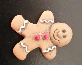 Ceramic Light Gingerbread Man/Boy Bead