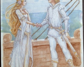 the Wedding on the Ship by Renae Taylor (original painting)