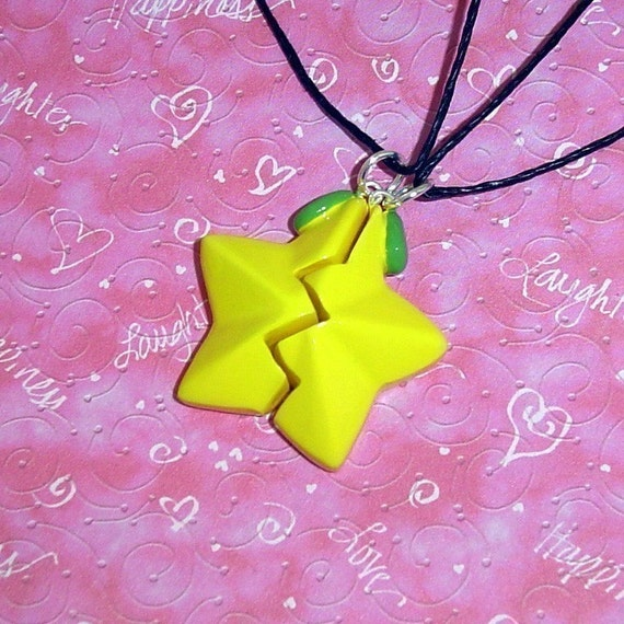 Kingdom Hearts - Friendship Paopu Fruit Necklaces