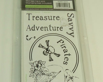 Savvy Savoir Faire Unmounted Stamp Set From See D's Inque Boutique #50457 Pirates, Treasure, Adventure, Ship, Skull And Crossbones