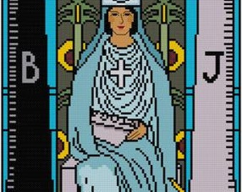 The High Priestess tarot card cross stitch pattern PDF  Rider Waite Major Arcana
