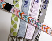Teacher Gift Personalized Safety Breakaway Lanyard, Names on Lanyards, Student Lanyard Over 70 Fabrics Up to 15 Letters
