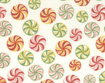 1 yard  Moda Candyland Christmas fabric Peppermint Candy