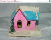 2800 Items To Choose From Vintage Mica Putz Miniature Pink Putz House 1, Japan, Village, Lights, Christmas, Holiday, Tree Decor , Tree Light