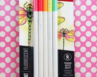 Irojiten Fluorescent Colored Pencils from Tobow
