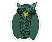 OWL You Need Is Love Sticker in green