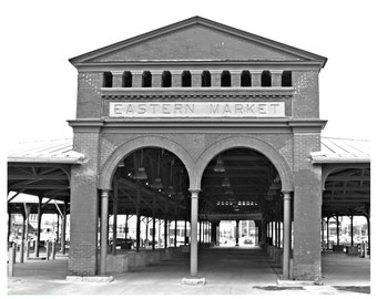 Detroit Michigan Eastern Market Photo 8 x 10 Photography Black And White Urban Artwork Architecture Photograph Fine Art Print Wall Decor