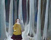 "Fine Art Print, ""A Wintry Walk"", forest, snow, winter, nature"