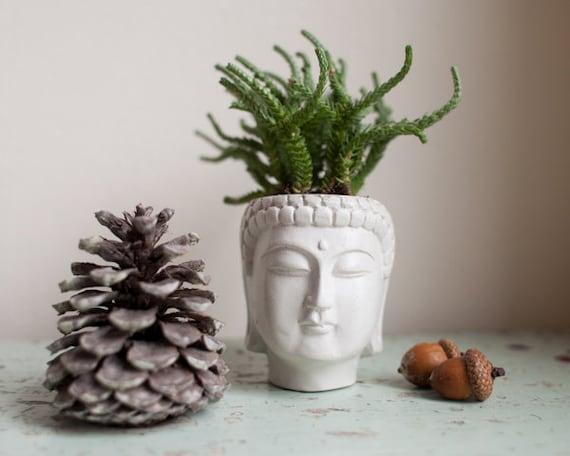 Small Buddha Head Planter Buddha Head Planter 1