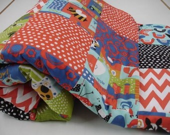 Free Range Farm Girls Patchwork Minky comforter Blanket MADE TO ORDER No Batting