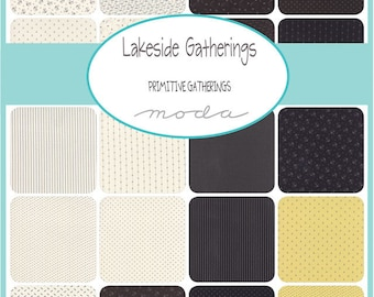 LAKESIDE GATHERINGS PRINTS - Moda Fabric Charm Pack - Five Inch Quilt Squares Quilting Material Blocks