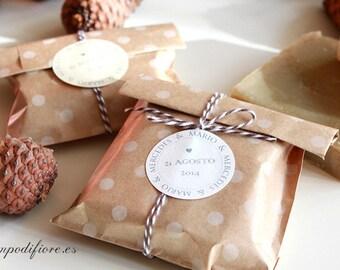 25 Wedding favors - Wedding soaps | Natural soaps in ecologic kraft paper 55 grames | Soaps for celebrations, weddings details, wedding gift