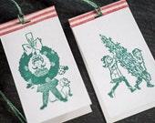 Christmas Kids Letterpress tags - On Sale