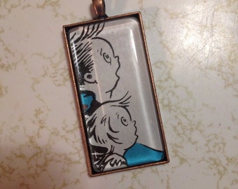 Cat in the Hat Brother and Sister Pendant and Necklace FREE USA Shipping