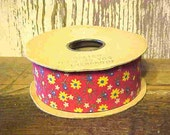 Old, New Stock--Spool of Calico Ribbon from the 1980's--25 yards.