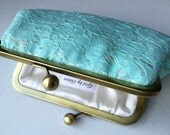 Seafoam Pale Cotton Lace Clutch