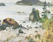 TRINIDAD BEACH Watercolor Painting