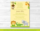 Jungle Animal Baby Shower...