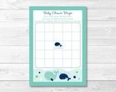 Whale Baby Shower Bingo G...