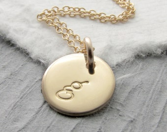 Gold Initial Necklace 14k Gold Gold Initial Necklace 14k Solid Gold Necklace Solid Gold Personalized Necklace Mother's Day Gift Holiday Gift