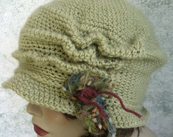 Crochet Pattern Womens FLapper Hat Brimmed With Free Form Trim Instant Download  May Sell Finished