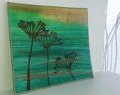 Embroidered Textile Art -September Shadows