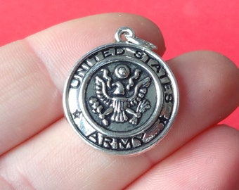 2, UNITED STATES ARMY Charms 22x20mm