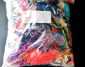 Yarn Scraps. Arcylic Ribbon Ladder Yarn Pieces.  Great for scrapbooking and crafting