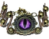 Neo Victorian Jewelry - Bracelet with purple dragon eye