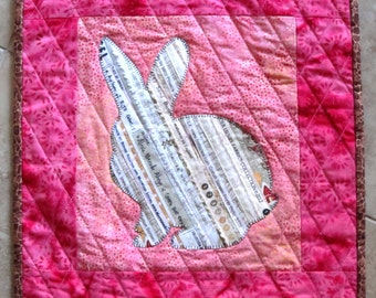 BUNNY Mini Selvage Quilt Collection from Quilts by Elena Wall Hanging Table Topper Selvages