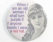 Funny Fridge Magnet Red Hat Humor