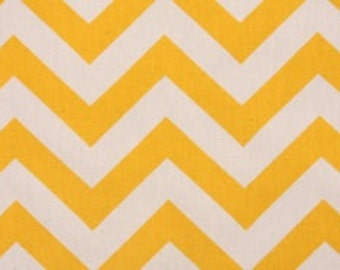"SAMPLE SALE RUNNERS 22""-  43"" Zigzag yellow and white zig zag table runner Cotton Twill Chevron clearance Rpst"