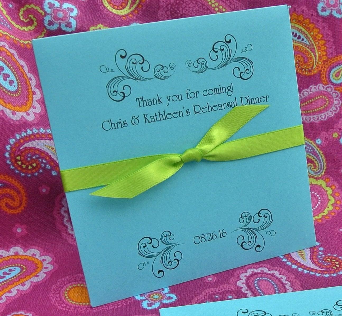 Wedding Rehearsal Dinner Gifts: Wedding Rehearsal Dinner Favors Lottery Ticket Envelopes