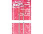 "Susan Bates steel large eye yarn needles, Darning needle,  2 3/4"",  blunt end tip, size 13 needles, 14080"