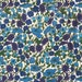 """Classic Liberty London Tana Lawn, """"Petal & Bud"""" Fat Eight Dark Blues .Summer Floral Crafts,Cottage Chic Style,Patchwork Quilting"""