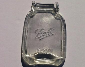 Ball Mason Jar Spoon Rest - Quart Size Canning Jar - Soap Dish - Tea Bag Holder
