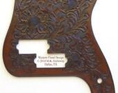 Precision Bass  Leather Pickguard Handtooled