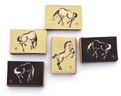 Rare Vintage Japanese Horse Matchboxes