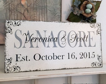 WEDDING SIGNS, Family Signs, Custom Signs, 24 x 12