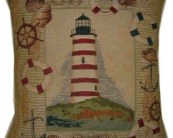 Lighthouse on the Hill Tapestry Cushion Cover Sham