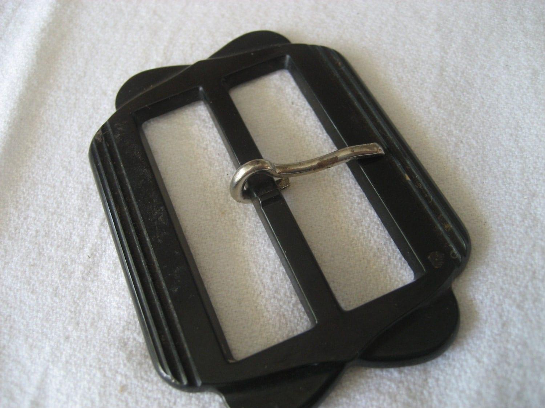 Vintage Black Plastic Slide Belt Buckle By Abandc On Etsy