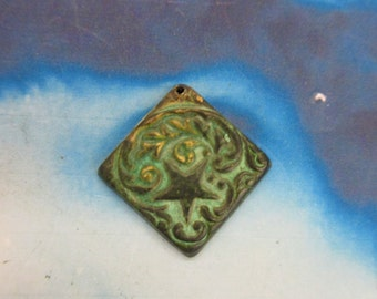Verdigris Patina Brass Star And Floral Charms 633VER  x2