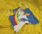 Unicorns and Rainbow Print Hen Saddle - Standard