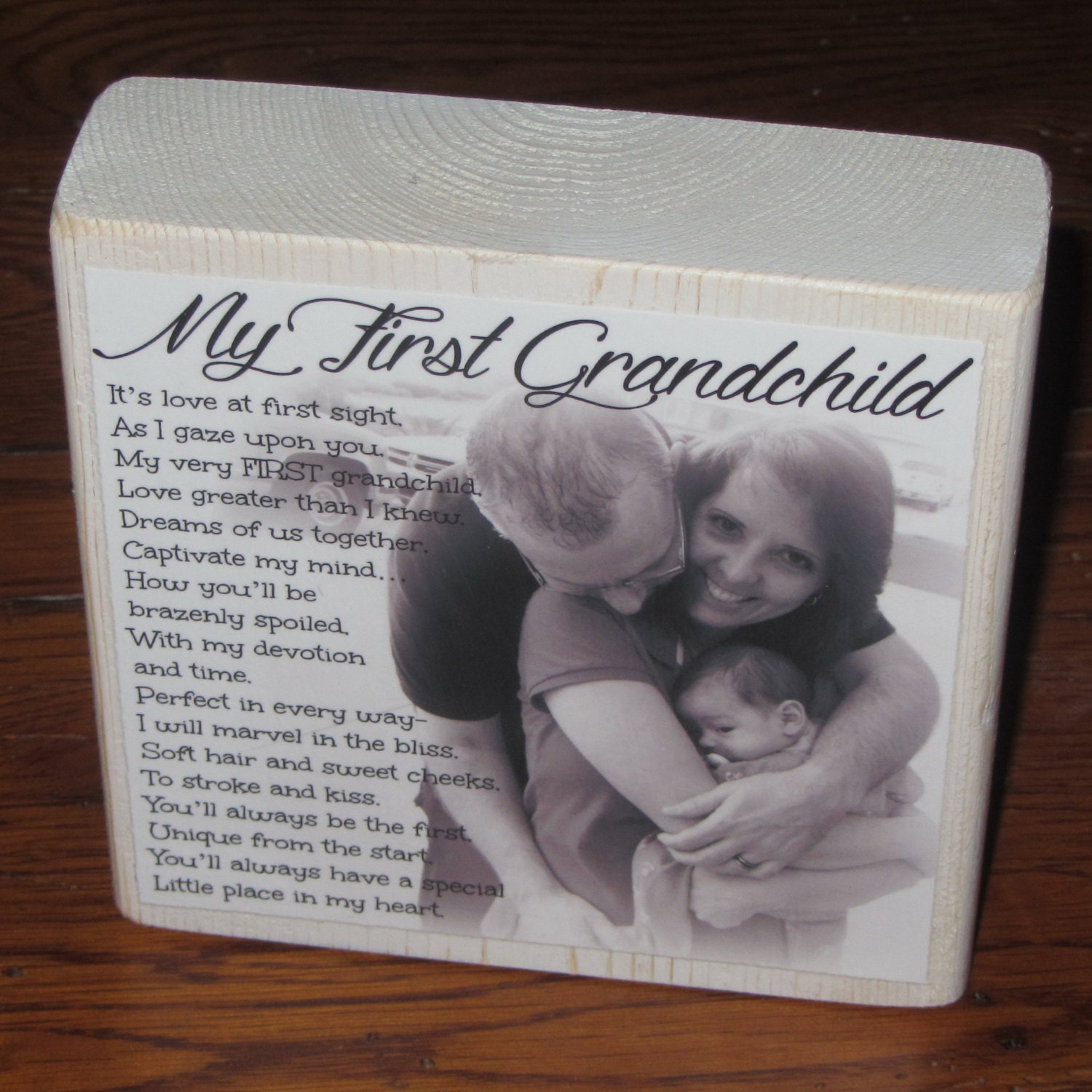First Grandchild Poem For GRaNDPA PERSoNALIZED Larger Photo